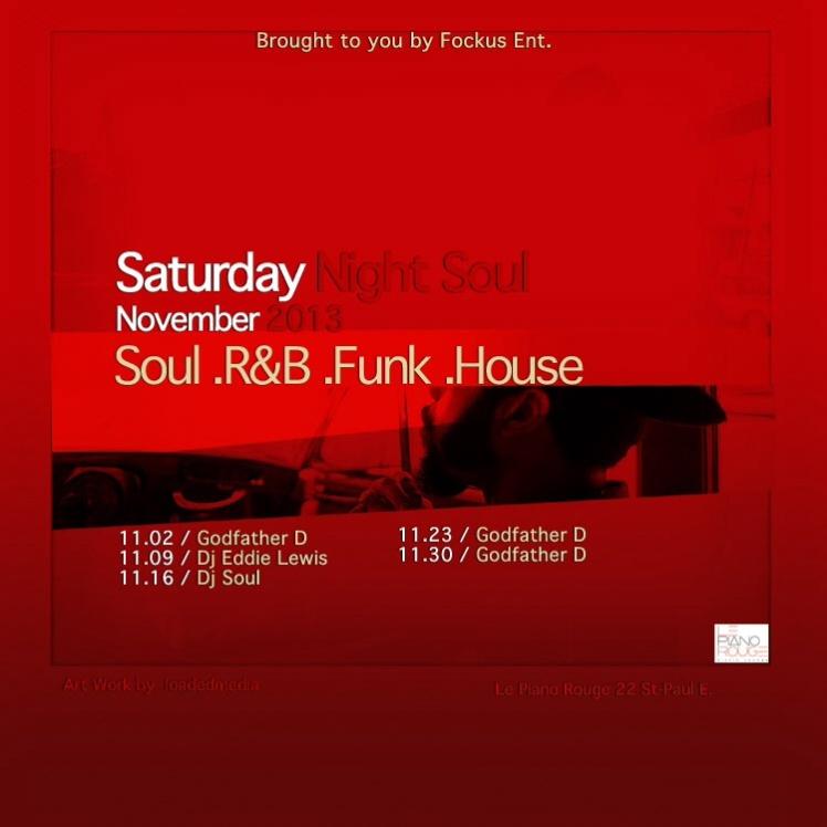 Saturday Night Soul November 2013