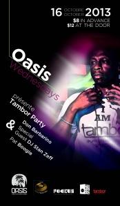 Oasis Wednesdays Tambor Party