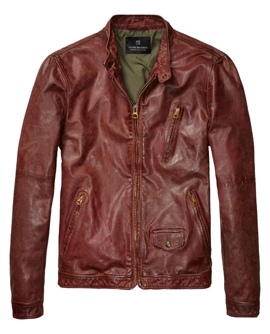 Leather biker jacket Scotch & Soda