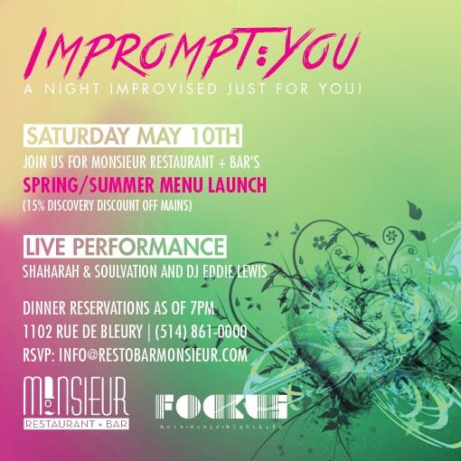 Impromt:YOU Spring/Summer Menu Launch MONSiEUR RESTAURANT + BAR