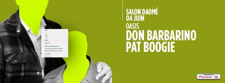 Oasis Wednesdays Salon Daomé Pat Boogie Don Barbarino