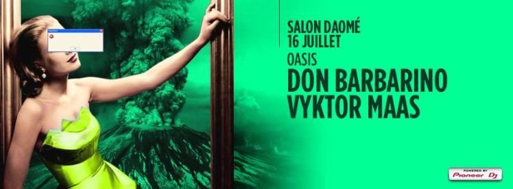 Oasis Wednesdays Salon Daome Vyktor Maas Don Barbarino