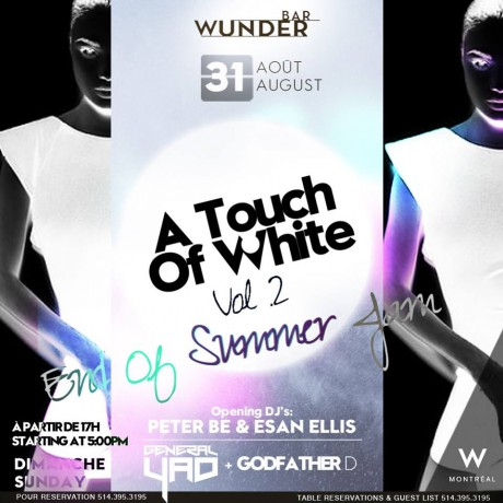 A Touch of White Day & Night Party Wunderbar W Hotel