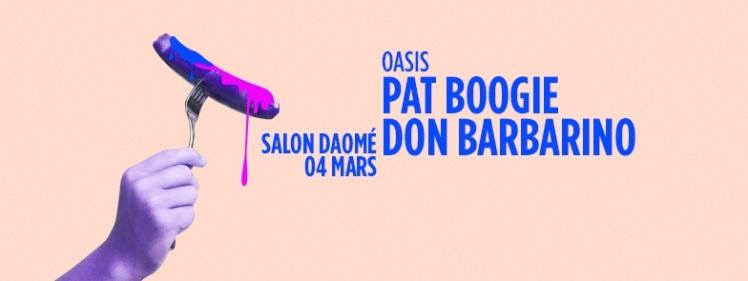 Oasis Wednesdays Pat Boogie Don Barbarino