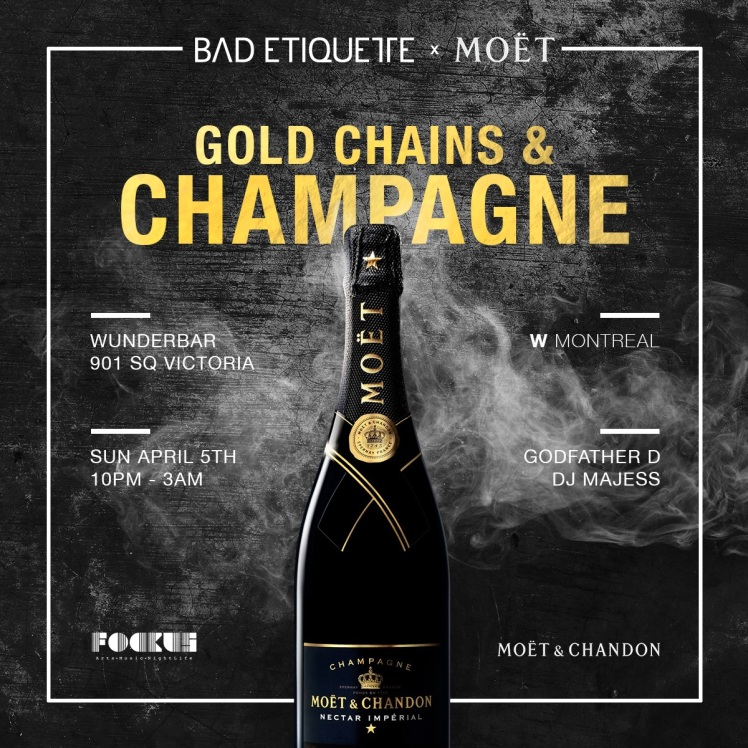 Gold Chains & Champagne Bad Etiquette Wunderbar W Hotel