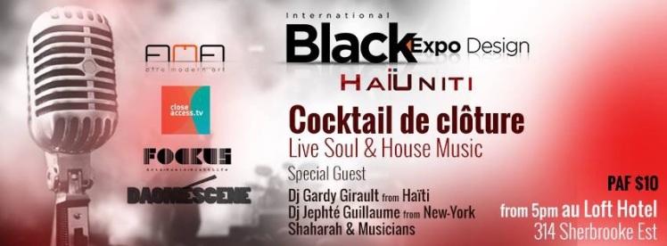 Black Expo Design Cocktail de Clôture Shaharah Jephté Guillaume Gardy Girault