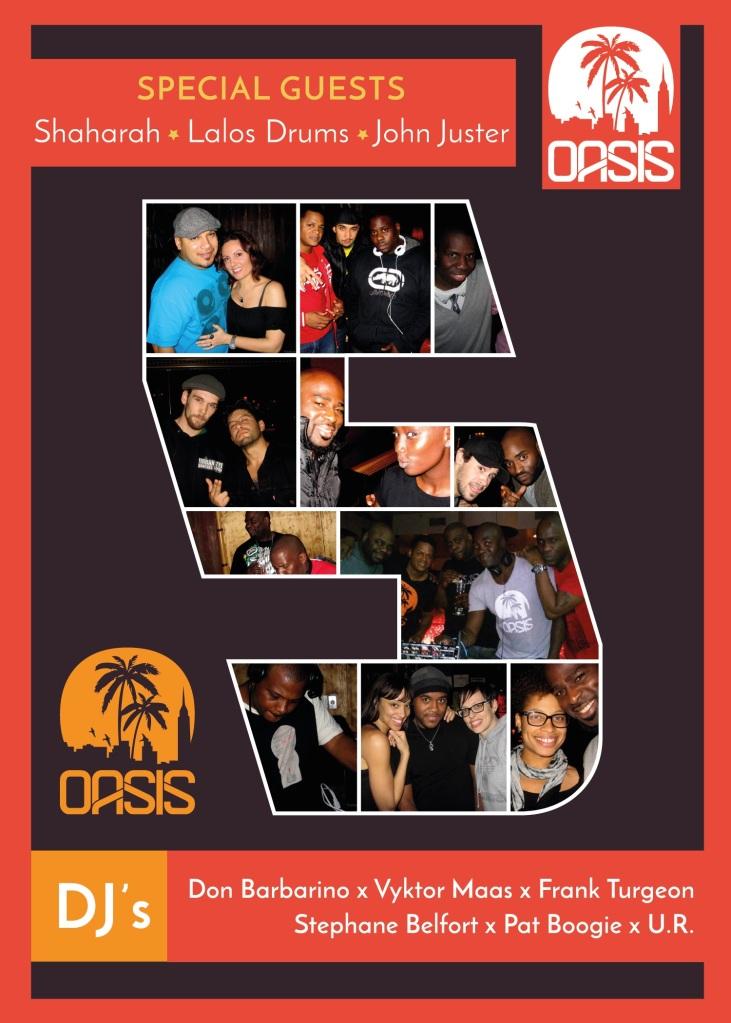 Oasis Mtl 5 Year Anniversary
