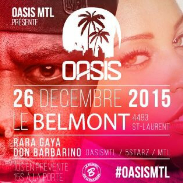 OasisMtl Boxing Day Event at Le Belmont