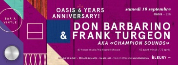 Oasis MTL Frank Turgeon Don Barbarino Le Bleury Montreal Nightlife