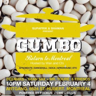 GUMBO Return to Montreal Artgang Montreal