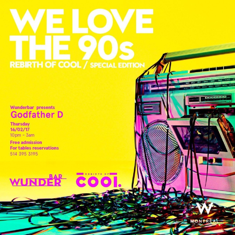 Rebirth of Cool We Love The 90s Wunderbar W Hotel Godfather D Mike Steven